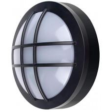 Solight LED venkovní osvětlení kulaté s mřížkou, 13W, 910lm, 4000K, IP65, 17cm, černá