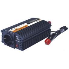 Solight invertor 12V, USB 500mA, kovový, černý, max. zatížení: 300W