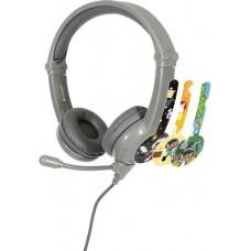 Buddyphones GALAXY - dětská drátová herní sluchátka s mikrofonem, šedá