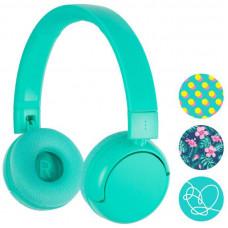 Buddyphones POP - Teens bluetooth sluchátka s mikrofonem, Tyrkysová