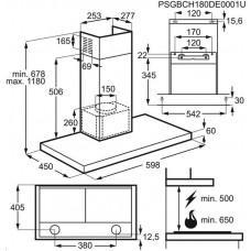 Electrolux Intuit LFT426X digestoř komínová