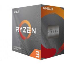 AMD CPU AMD RYZEN 3 3100, 4-core, 3.6 GHz (3.9 GHz Turbo), 18MB cache, 65W, socket AM4, Wraith