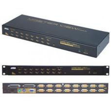 ATEN 16port KVM PS/2+USB, OSD, rack 19