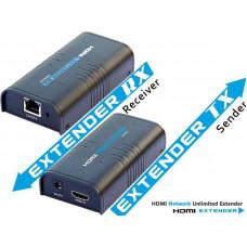 ATEN PremiumCord HDMI extender na 120m přes LAN,over IP