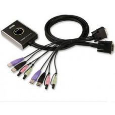 ATEN 2port DVI KVMP, USB 2.0, audio, mini, 1.2m
