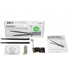 Evolveo PCIe WIFI Card 1200 Mbps, rozšiřující karta