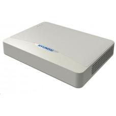 Hyundai NVR, 8 kanálů, 1x HDD(až 6TB), 8xPoE (75W), FHD, 2xUSB, 1xHDMI a 1xVGA