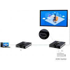 PREMIUMCORD HDMI KVM extender s USB na 60m přes jeden kabel Cat5/6, bez zpoždění