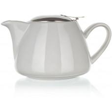 konvice na čaj 1,2l keramická BÍ s nerez sítkem a víčkem