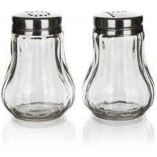 slánka a pepřenka MONO 40ml sklo/nerez (2ks) kulatá