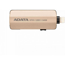 A-Data ADATA i-Memory AI720 Flash 64GB USB 3.1, Apple OTG (micro USB), šedá