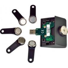 VIRTUOS Čtečka iButtonů pro XPOS + 5 klíčů, USB (emulace RS232), šedá