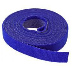 SCHRACK Vazací páska na suchý zip, 16 mm, 4 m, modrá