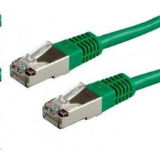 LYNX CS Patch kabel Cat6A, S-FTP - 0,25m, zelený