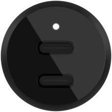 Belkin 36W Duální USB-C Power Delivery nabíječka do auta, černá