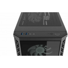 SilentiumPC skříň MidT Signum SG1X EVO TG ARGB / 2xUSB 3.0/ 4x120mm fan/ čelo a bok z tvrzeného