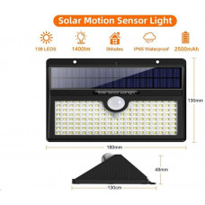 Viking venkovní solární LED světlo V138 s pohybovým senzorem