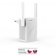 TENDA A15 - WiFi Range Extender AC750 Dual Band, opakovač 750 Mb/s, 1x LAN 100Mb/s, WPS, 2x 2dBi