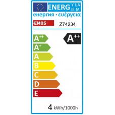 Emos LED žárovka MINI GLOBE, 4W/40W E14, WW teplá bílá, 465 lm, Filament matná A++