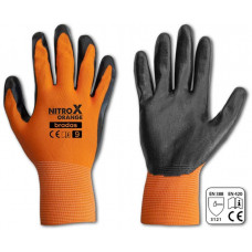 BRADAS rukavice NITROX ORANGE nitril 11