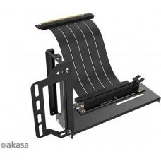 AKASA Riser black Pro, vertikálni VGA držák