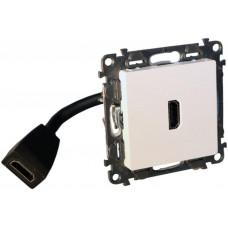 LEGRAND Valena Life zásuvka HDMI 1.4 4K bílá