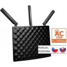 TENDA AC15 WiFi AC Router 1900Mb/s, 1x USB3.0, 1x GWAN, 3x GLAN, DLNA, FTP/VPN/Print server, 3x5dBi