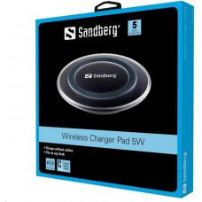 Sandberg bezdrátová nabíječka Qi, podložka, Wireless Charger Pad 5W