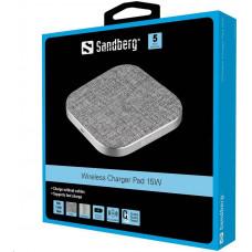 Sandberg bezdrátová nabíječka Qi, podložka, Wireless Charger Pad 15W