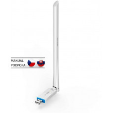 TENDA U2 WiFi N USB Adapter, 150 Mb/s, 802.11 b/g/n, 6 dBi, režimy Client, Soft AP,Win XP/7/8/10