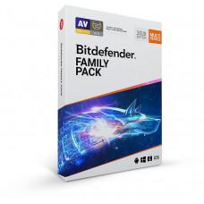 Bitdefender Family pack - 15 zařízení na 1 rok- elektronická licence do emailu