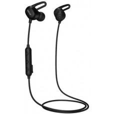 QCY - E2, sportovní bluetooth sluchátka do uší s ovladačem a mikrofonem, černá