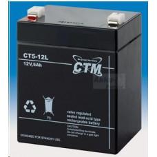 CTM Baterie - CTM CT 12-5L (12V/5Ah - Faston 250), životnost 5let