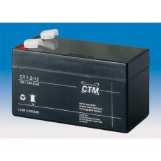 CTM Baterie - CTM CT 12-1,2 (12V/1,2Ah - Faston 187), životnost 5let