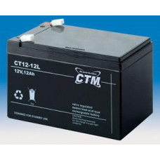 CTM Baterie - CTM CT 12-12L (12V/12Ah - Faston 250), životnost 5let