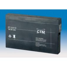 CTM Baterie - CTM CT 12-2,0 (12V/2,0Ah - Faston 187), životnost 5let