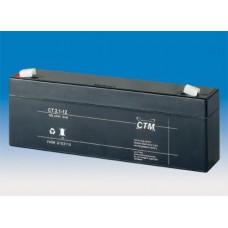 CTM Baterie - CTM CT 12-2,1 (12V/2,3Ah - Faston 187), životnost 5let