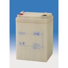 CTM Baterie - CTM CT 12-2,6 (12V/2,6Ah - Faston 187), životnost 5let