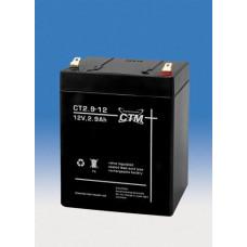 CTM Baterie - CTM CT 12-2,9 (12V/2,9Ah - Faston 187), životnost 5let