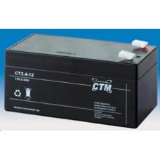 CTM Baterie - CTM CT 12-3,4 (12V/3,4Ah - Faston 187), životnost 5let