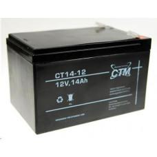 CTM Baterie - CTM CT 12-14 (12V/14Ah - Faston 250), životnost 5let