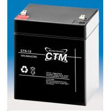 CTM Baterie - CTM CT 12-5 (12V/5Ah - Faston 187), životnost 5let