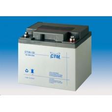 CTM Baterie - CTM CT 12-38 (12V/38Ah - M6), životnost 5let