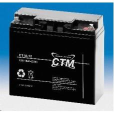 CTM Baterie - CTM CT 12-18 (12V/18Ah - M5), životnost 5let