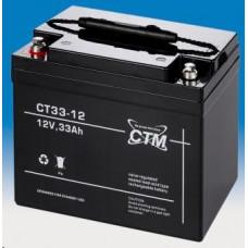 CTM Baterie - CTM CT 12-33 (12V/33Ah - M6), životnost 5let