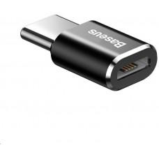 Baseus adaptér USB-C samec na MicroUSB samice 2,4A, černá