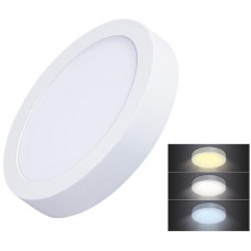 Solight LED mini panel CCT, přisazený, 12W, 900lm, 3000K, 4000K, 6000K, kulatý