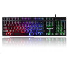 Tracer klávesnice GAMEZONE LoCCar, herní, drátová, USB, podsvícená