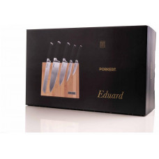PORKERT nůž EDUARD sada 5díl. + bambusový blok magnetický