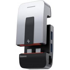 Baseus Armor Age multifunkční USB-C HUB adaptér vesmírně, šedá